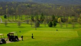 The Homestead golf course in Hot Springs Virginia